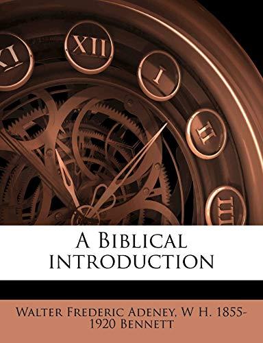 9781177134477: A Biblical introduction