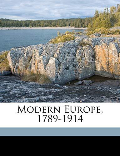 9781177225663: Modern Europe, 1789-1914