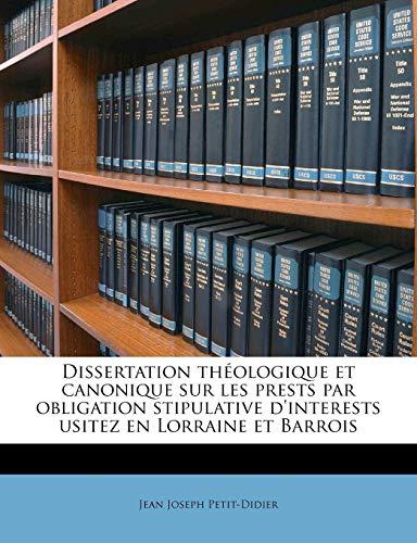 Dissertation thà ologique et canonique sur les