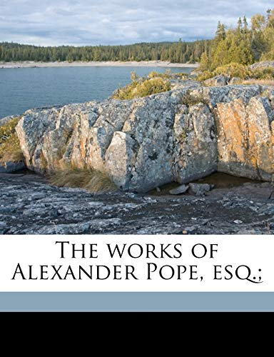 The works of Alexander Pope, esq.; Volume 1 (1177671530) by Pope, Alexander; Warton, Joseph