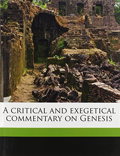 9781177692809: A critical and exegetical commentary on Genesis
