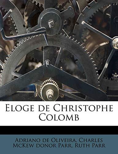 9781178520569: Eloge de Christophe Colomb