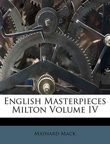 9781178533828: English Masterpieces Milton Volume IV