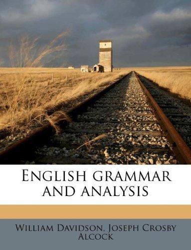 9781178534672: English grammar and analysis