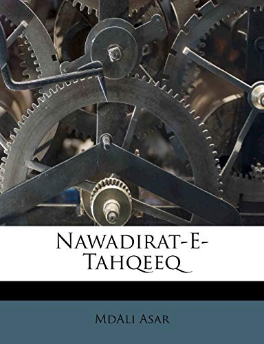 9781179439709: Nawadirat-E-Tahqeeq (Urdu Edition)