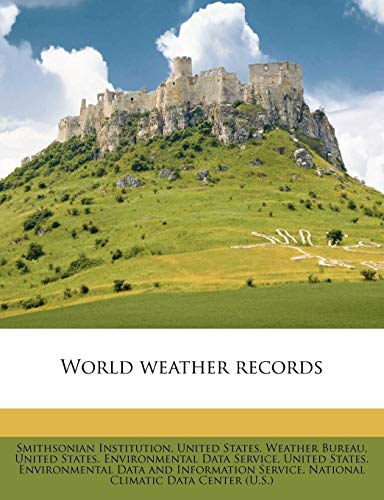 9781179563183: World weather records