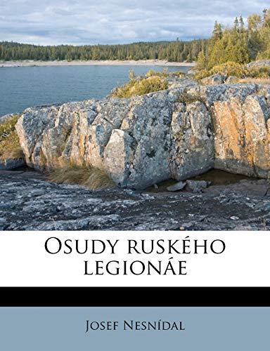 9781179835617: Osudy ruského legionáe (Czech Edition)