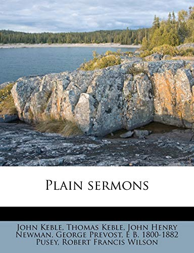 Plain sermons (1179982541) by John Keble; Thomas Keble; John Henry Newman