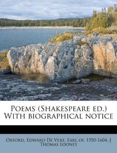9781179991351: Poems (Shakespeare ed.) With biographical notice