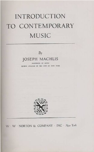 9781199111074: Introduction to Contemporary Music.