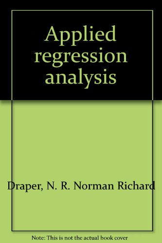 9781199147219: Applied regression analysis