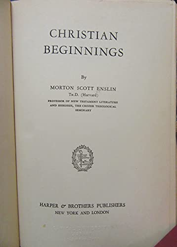 9781199237019: Christian Beginnings.