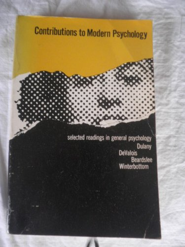 9781199375483: Contributions To Modern Psychology