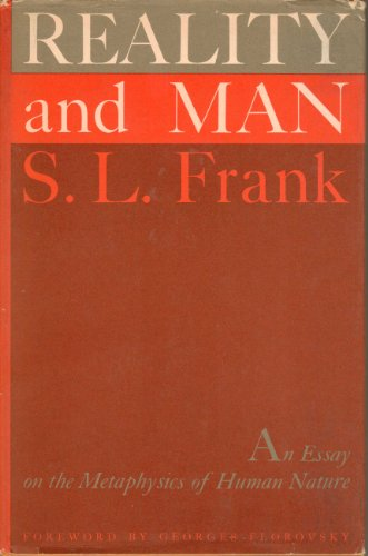 9781199612731: Reality and man;: An essay in the metaphysics of human nature