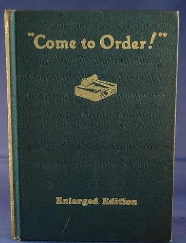 come to Order!: Wines, Emma M.;