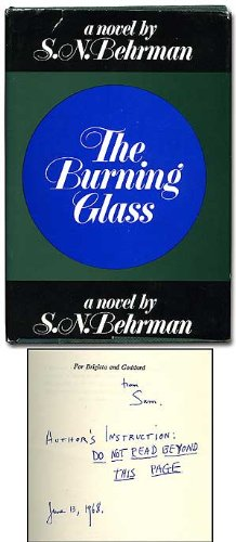 9781199684486: The burning glass;: A novel,