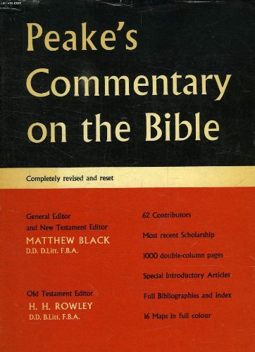 9781199736048: Peakes Commentary on the Bible