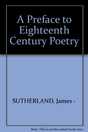 9781199744739: A preface to eighteenth century poetry
