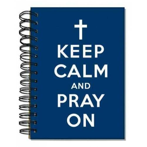 9781223062037: Words 2 Live by Keep Calm and Pray on Navy: 96 Ruled Full Color Pages