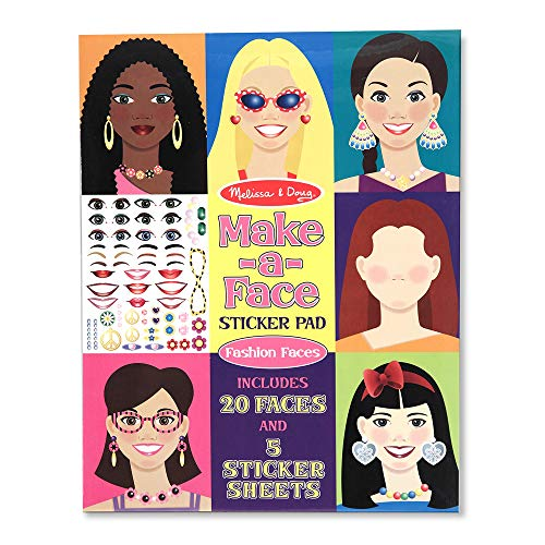 9781223062563: Make-a-face Sticker Pad: Fashion Faces
