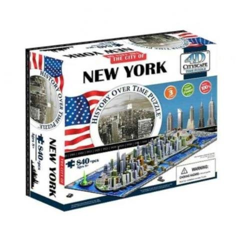 9781223064642: 4d Cityscape New York History Time: 840 Pieces