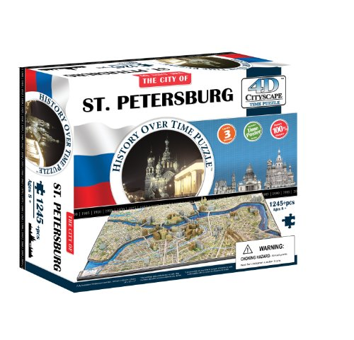 9781223064758: The City of St. Petersburg 4d Cityscape Time: 1,245 Pieces