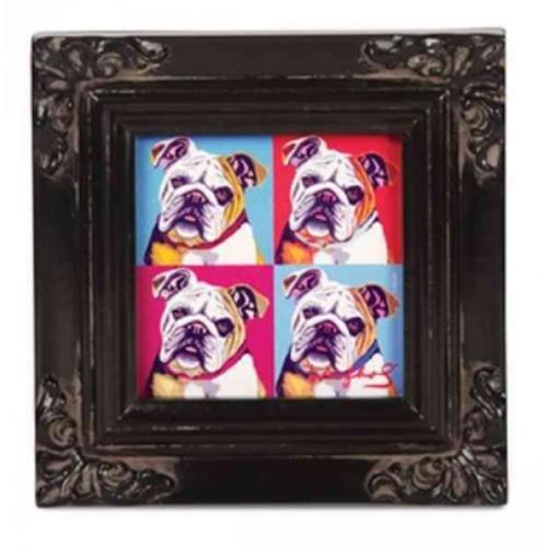 9781223065618: Bulldog - Woofhol - Framed Canvas