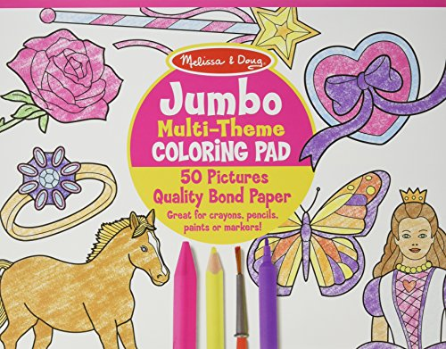 Jumbo Multi-theme Coloring Pad - Pink Coloring Book (Paperback): Not Available