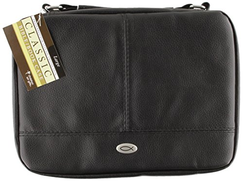 9781223068329: Black Large Two-fold Luxleather Organizer Book and Bible Cover