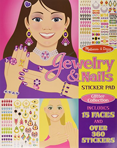 9781223068442: Jewelry & Nails Glitter Collection Sticker Pad