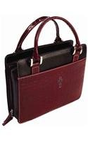 9781223069289: Burgundy Croc Embossed Large Purse Style Book and Bible Cover