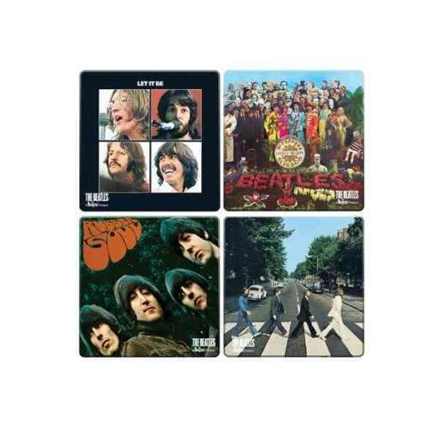 9781223071336: The Beatles Album Cover 4 PC. Wood Coaster Set