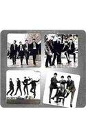 The Beatles 4 PC. Glass Coasters Set
