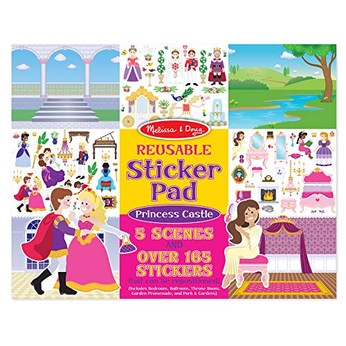9781223080840: Reusable Sticker Pad - Princess Castle: Activity Books - Coloring/Painting/Stickers