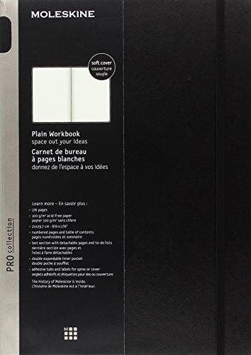 9781223115603: Moleskine Pro Collection Workbook: A4, Plain, Black