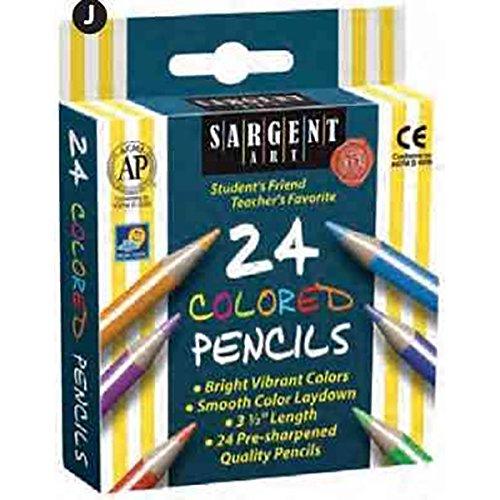 9781223117140: Pencil/24 Ct. Half Sized Color: 3.5 Inch