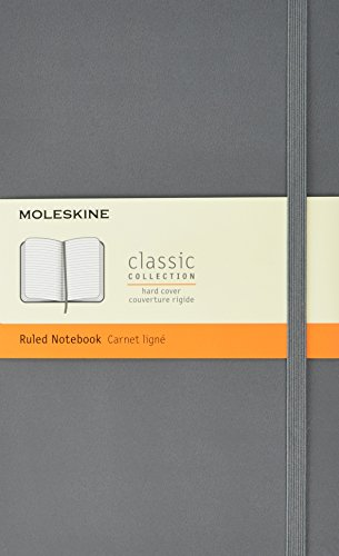 Moleskine Classic Ruled Notebook Large Hard Cover Slate Grey