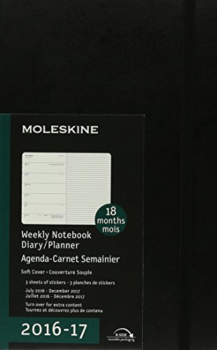 9781223121758: Moleskine 2016-2017 Weekly Notebook Diary / Planner, Large, Black
