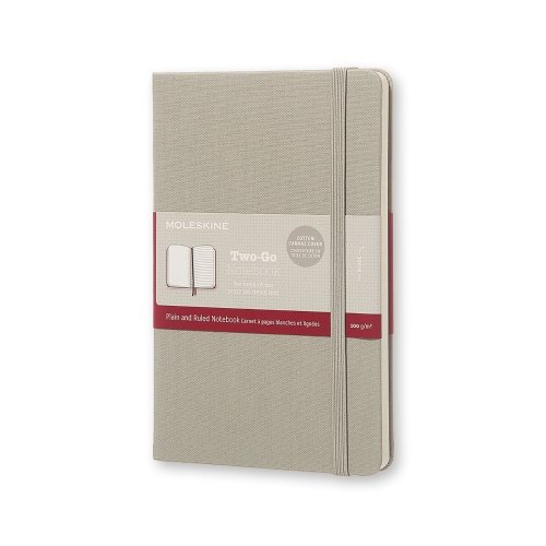 9781223128016: Moleskine Two-go Notebook Medium Ruled-plain Ash Grey
