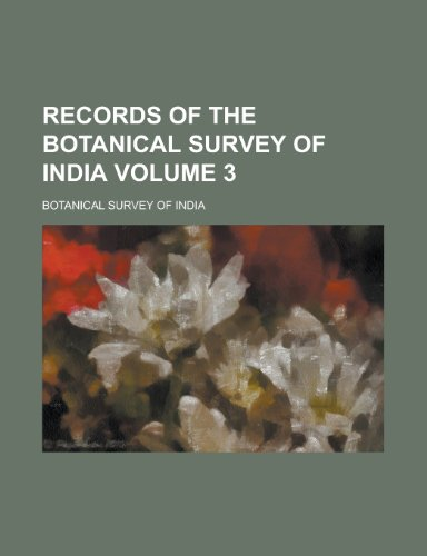 9781230012155: Records of the Botanical Survey of India Volume 3
