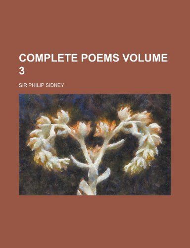 9781230014869: Complete Poems Volume 3