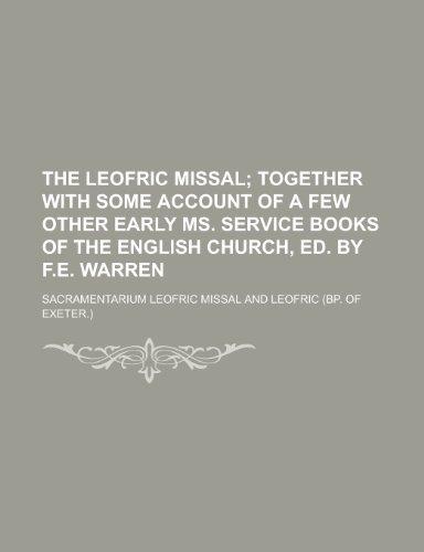 9781230145471: The Leofric Missal