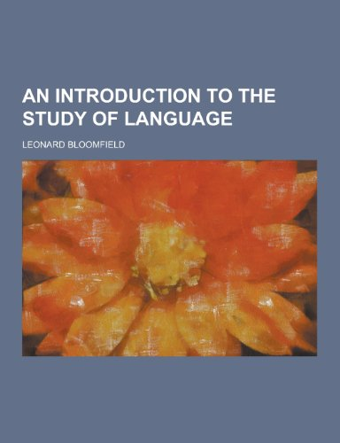 9781230197586: An Introduction to the Study of Language