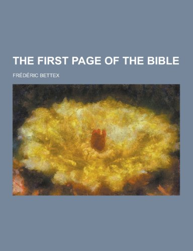 9781230211299: The First Page of the Bible