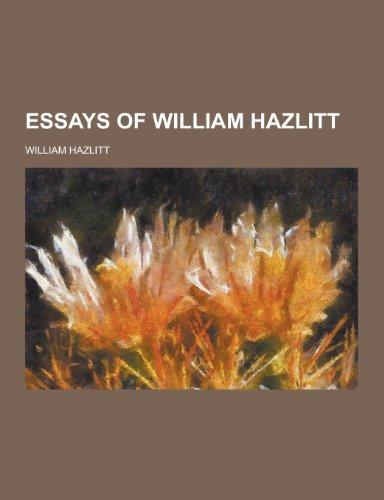 9781230227092: Essays of William Hazlitt