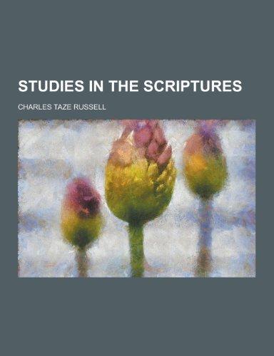 9781230239774: Studies in the Scriptures