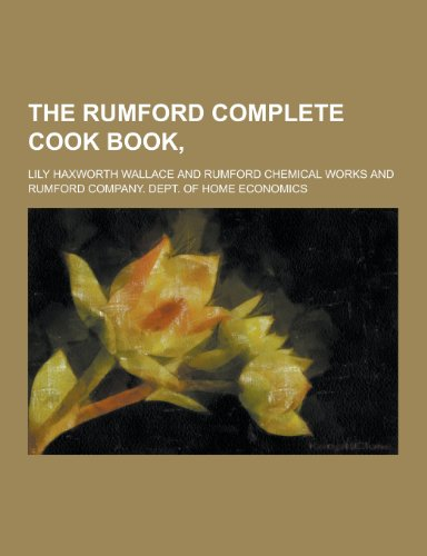 9781230245737: The Rumford Complete Cook Book,