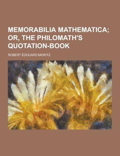 9781230267388: Memorabilia Mathematica