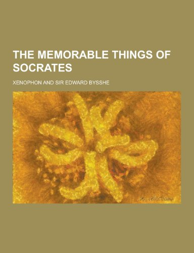 9781230276540: The Memorable Things of Socrates