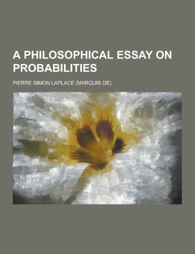 9781230305974: A Philosophical Essay on Probabilities